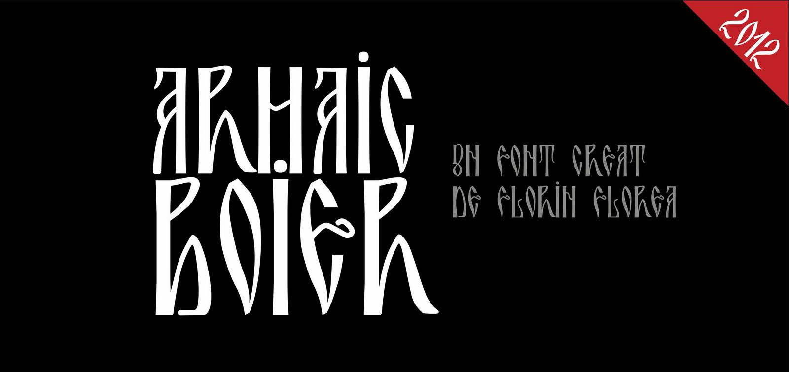 Font Arhaic Boier