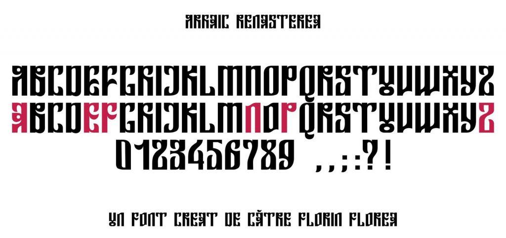 Font Arhaic Renasterea