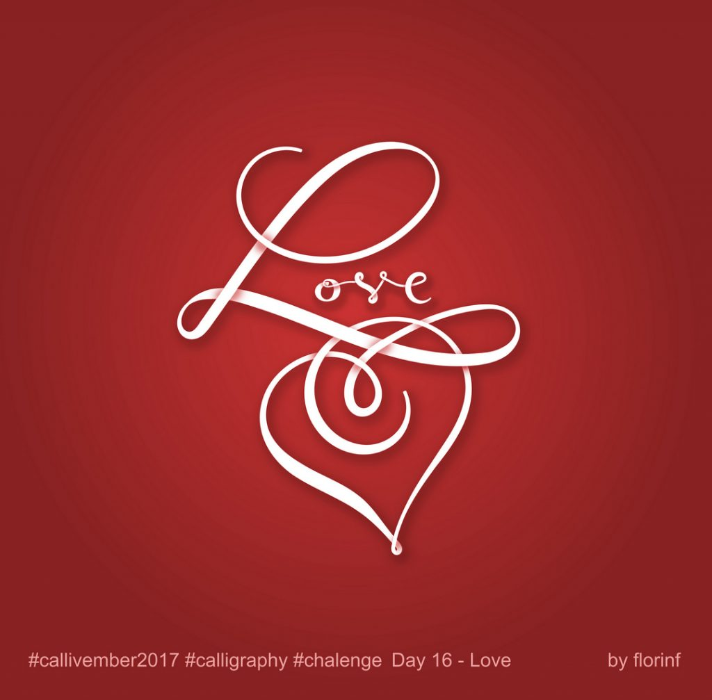callivember love by florinf - desen vectorial, lettering