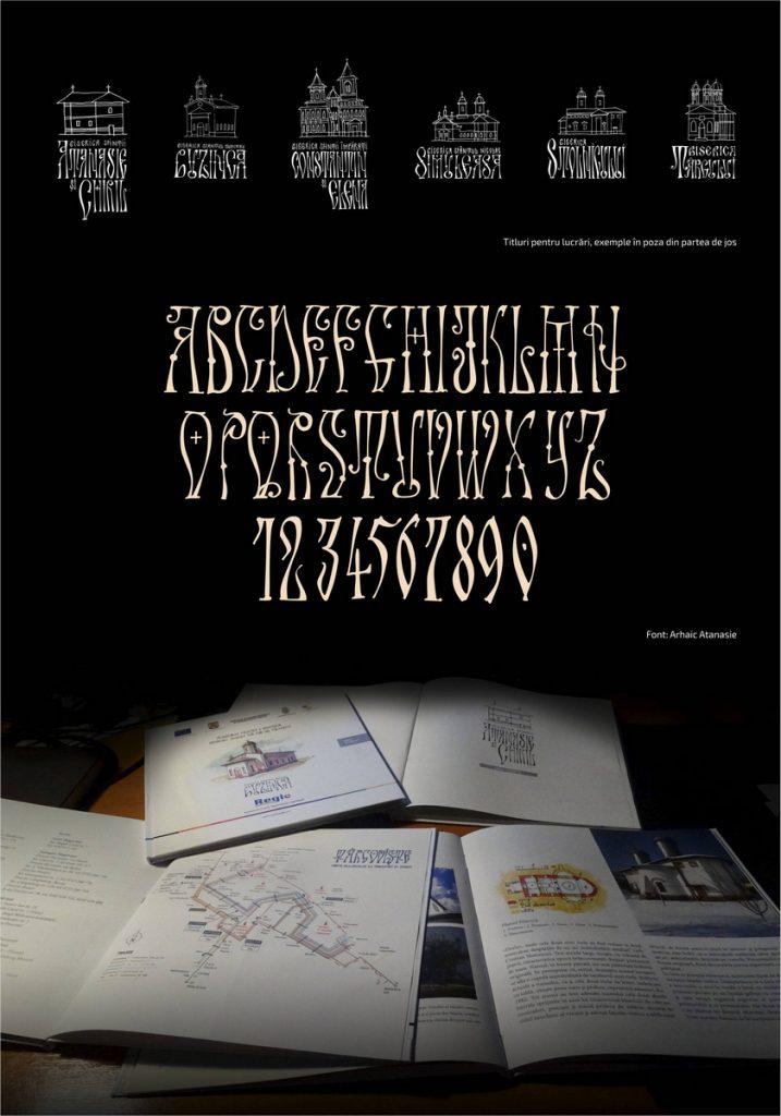 Arhaic Românesc - setul de tipuri de literă cu specific românesc create de Florin Florea.