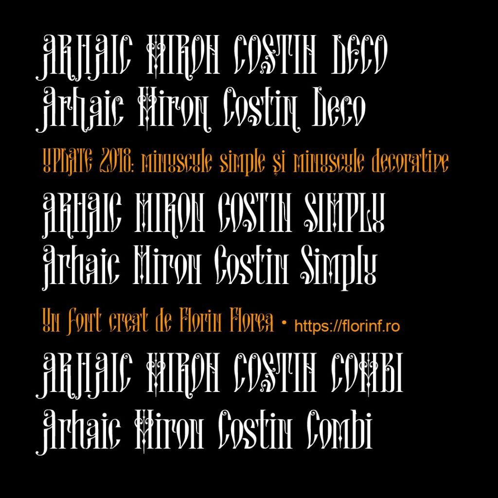 Arhaic Miron Costin actualizat cu minuscule