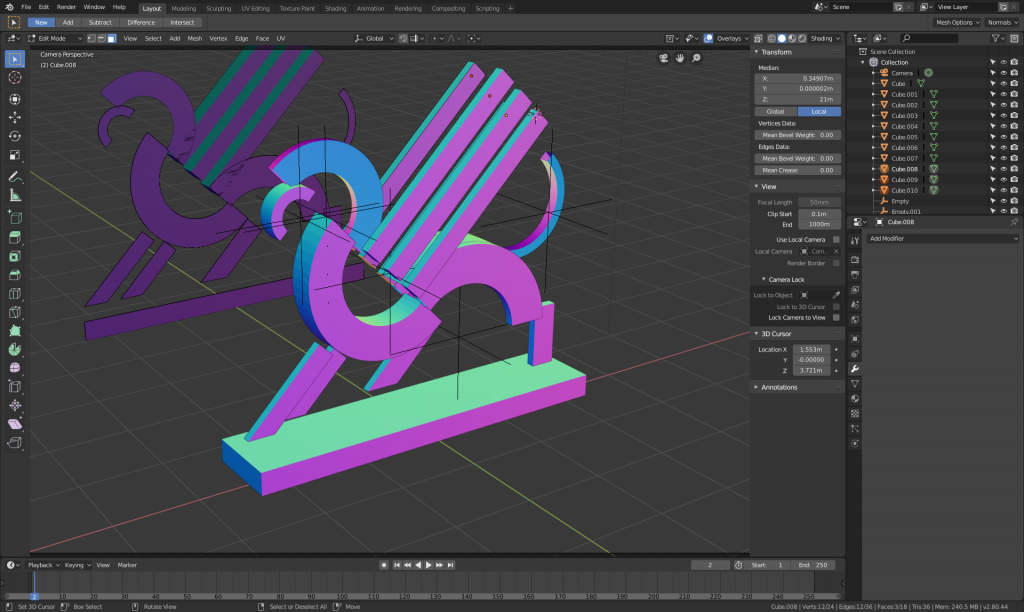 Gryphon in Blender