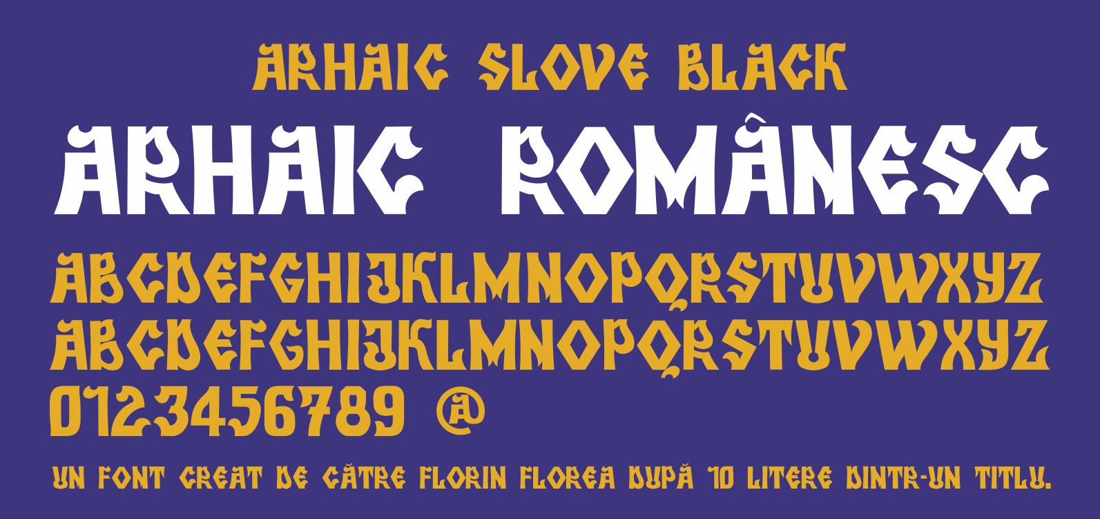 Font Arhaic slove Black